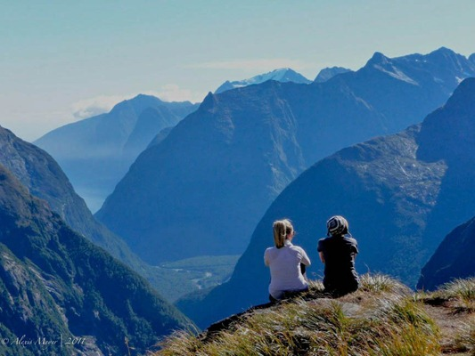 Looking over Milford Sound