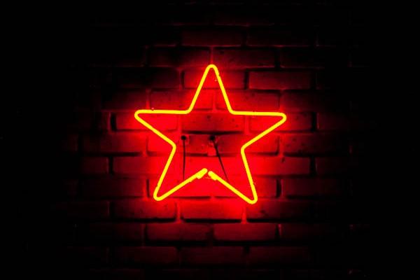 neon star sign