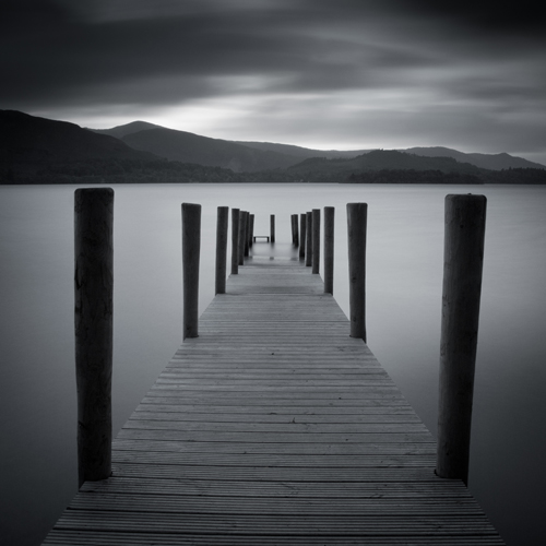 Derwent Water, Lake District, UK presented in a 1:1 aspect ratio
