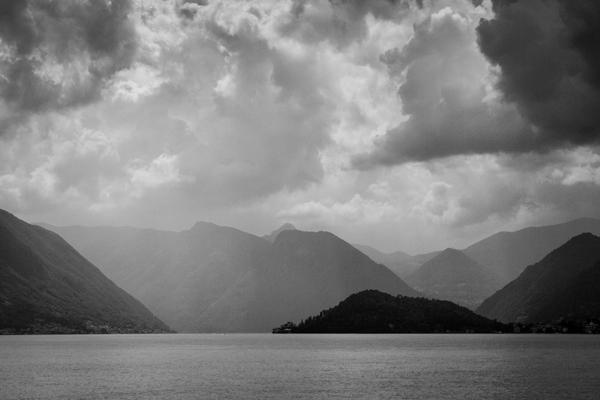 Rain over Lake Como presented in a 6:4 aspect ratio