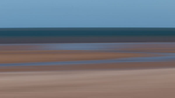Beach abstraction presented in a 16:9 format