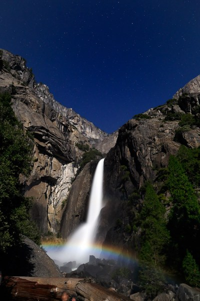 Image: Every year in the spring, during the full moon, a moonbow is created by the mist at Yosemite...