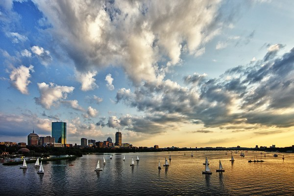 Image: Boston Skyline shot from Longfellow Bridge. This was a difficult exposure due to the darker f...