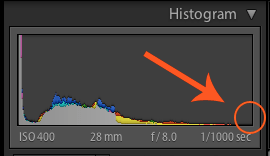 Image: Your darkest image's histogram should look something like this with a gap on the right side.