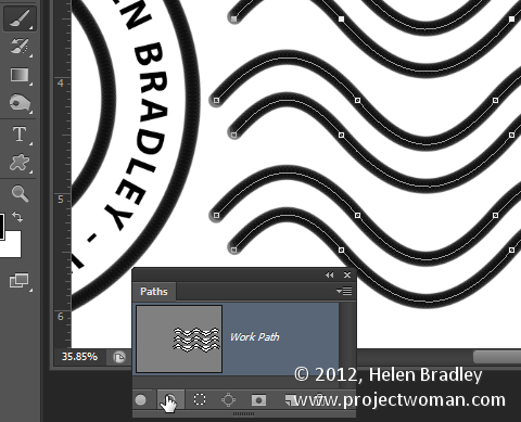 Make a watermark image in photoshop step13