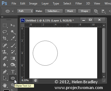 Make a watermark image in photoshop step2