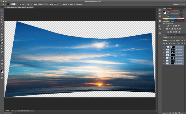 Panorama in separate layers