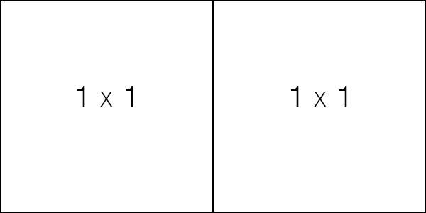 Two square images placed next to eachother