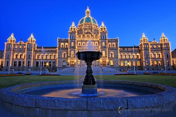 The Legislature in Victoria, British Columbia
