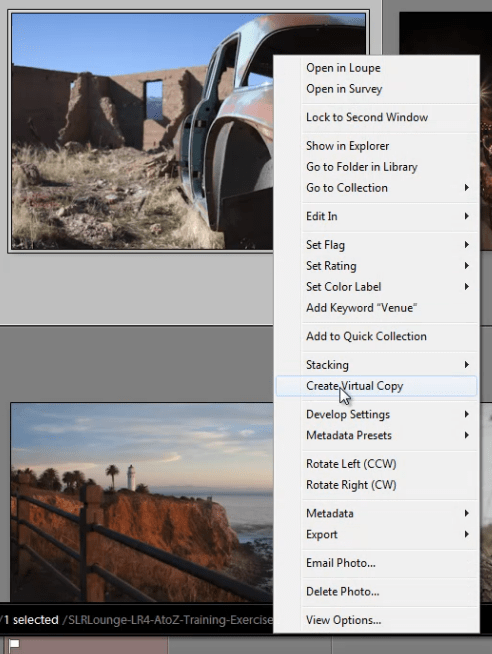 Lightroom 4 Virtual Copies 101