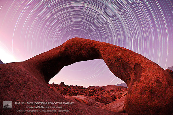Mobius Arch Star Trails