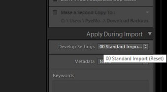 """How to Create a """"Standard Import"""" Preset in Lightroom 4"""