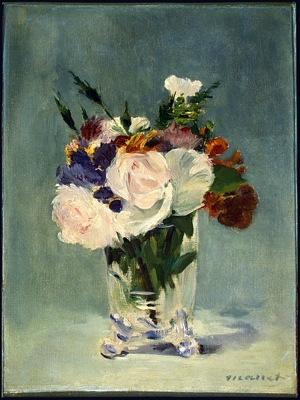 449px Flowers in a Crystal Vase Edouard Manet c1882
