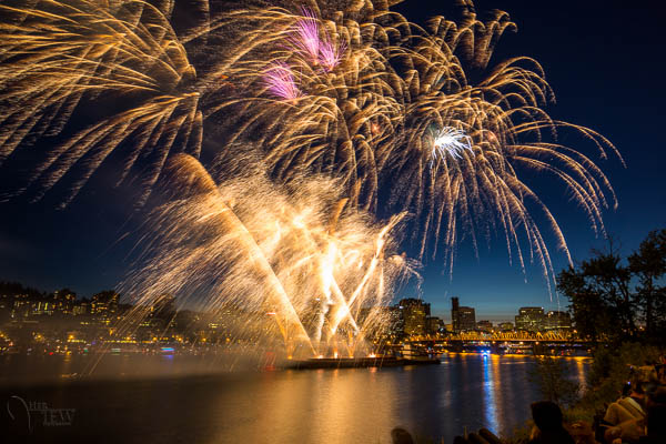 This image was actually purchased by the company that put on the fireworks show in Portland.