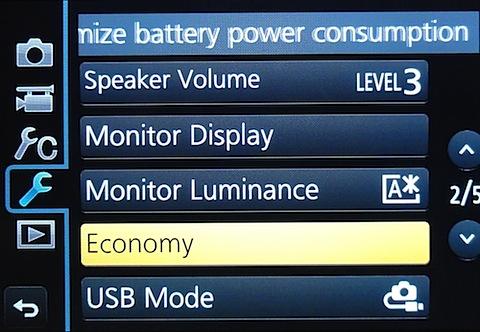 Panasonic Lumix DMC-G6 Menu 2