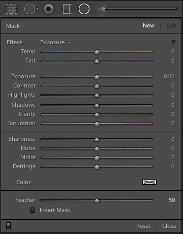 Lightroom 5 Radial Filter Settings