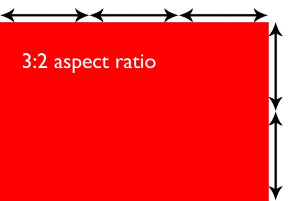 3:2 aspect ratio