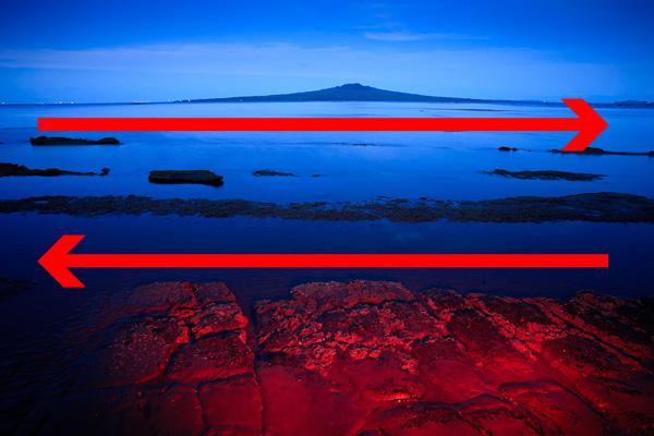 landscape horizontal composition