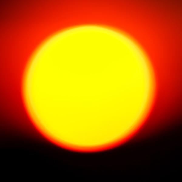 setting sun in a square
