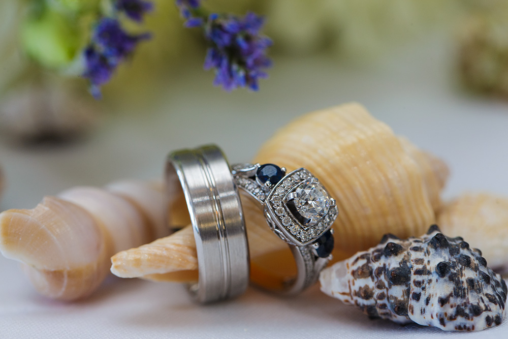 Beach Wedding Rings 54 Cute The bride and groom