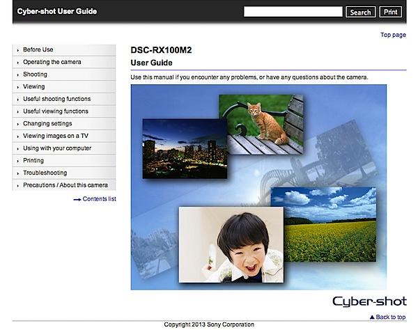 sony cyber shot dsc rx100 ii manual pdf