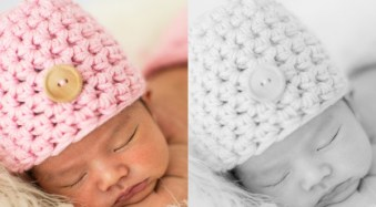 Newborn Photography Black and White Conversion in Lightroom