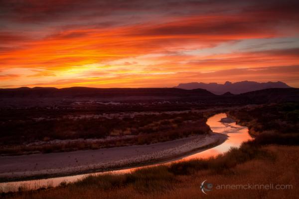 Rio Grande, Big Bend National Park, Texas, by Anne McKinnell