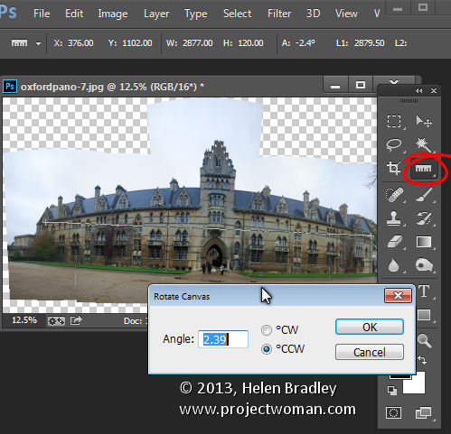 Sending Panorama Sequences from Lightroom to Photoshop  4
