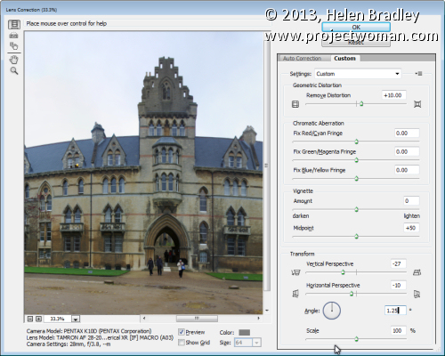 Sending Panorama Sequences from Lightroom to Photoshop 7
