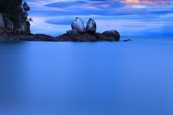 Split Apple rock, near Abel Tasman national park. I like this photo, but is it original? Not really – it's a popular landmark and has been photographed by hundreds of photographers. It's very difficult to create something new here.