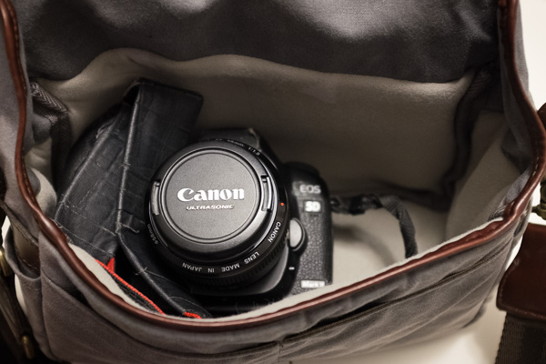 Fits a Canon 5D Mark II with 28mm lens.