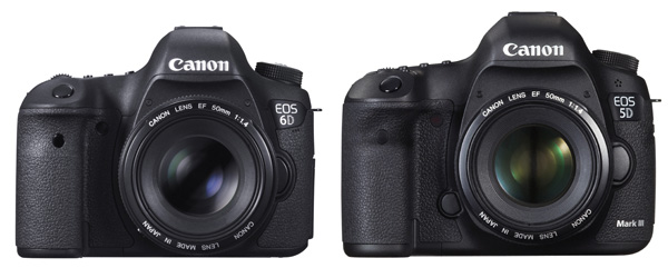 Review: Comparison Canon 5D MarkIII vs the Canon 6D