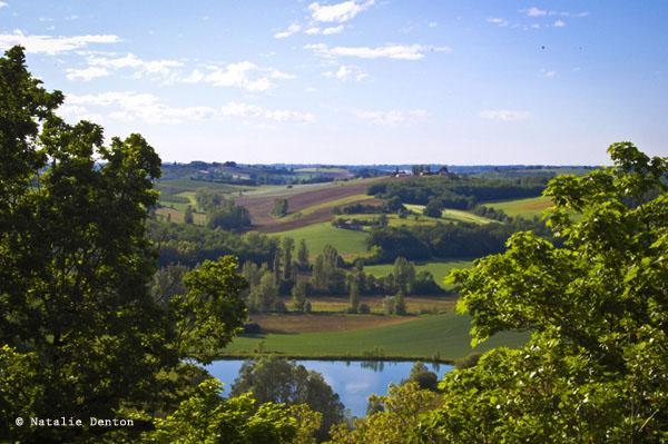 French landscape fields rural Natalie Denton