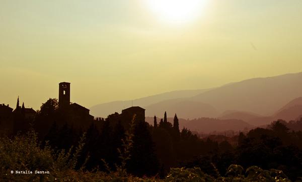 Italian sunset landscape Natalie Denton