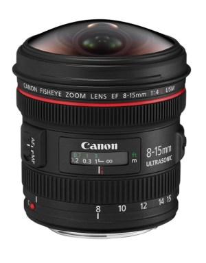 Canon 8-15mm fisheye lens