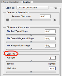 Photoshop tips vignetting