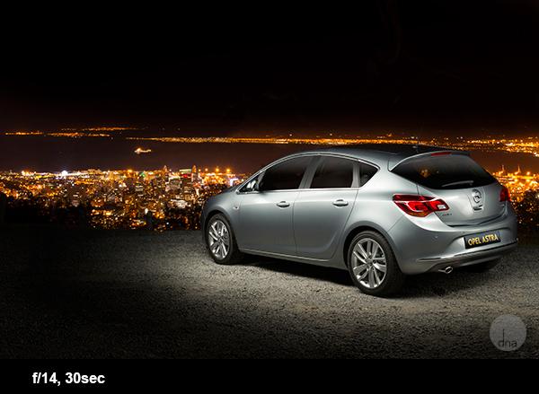 Dicas para fotografia de automóveis Opel Astra