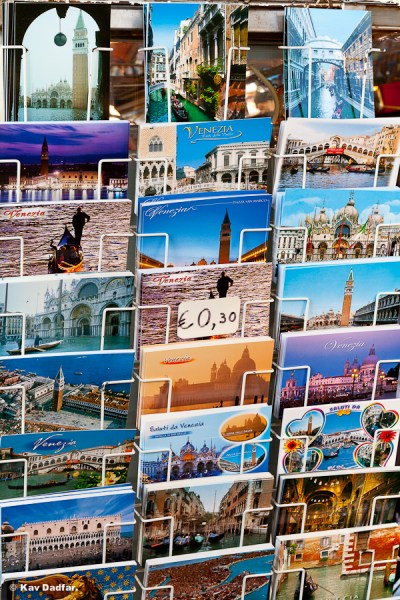 This stand selling post cards was in St Marks square in Venice. This image has out-sold all of the images I took of the landmarks!