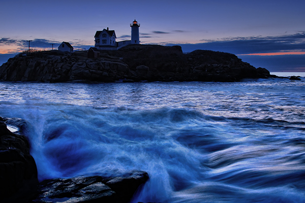 Cape Neddick, Maine. EOS-1D Mark III with EF 17-40 f/4L. 0.4 seconds, f/8, ISO 400.