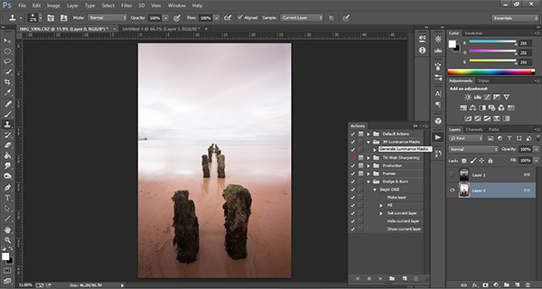 how to create a luminosity mask