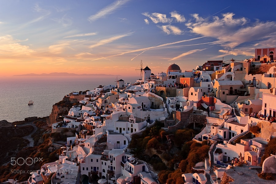Photograph Sunset in Oia by Slava Mylnikov on 500px
