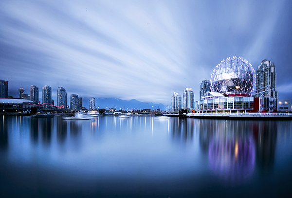 Long Exposure of Science World in Vancouver