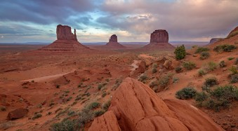 Monument Valley Landscape Sunset