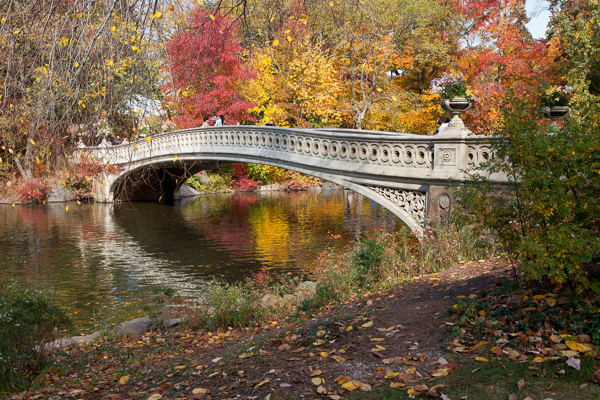 Bow Bridge in Fall, sRGB