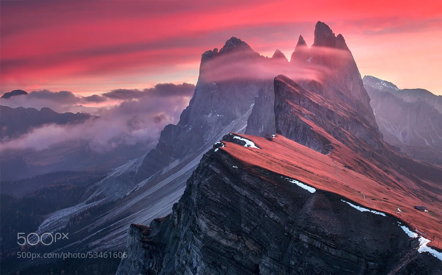 Photograph The Red Barrier by Max Rive on 500px