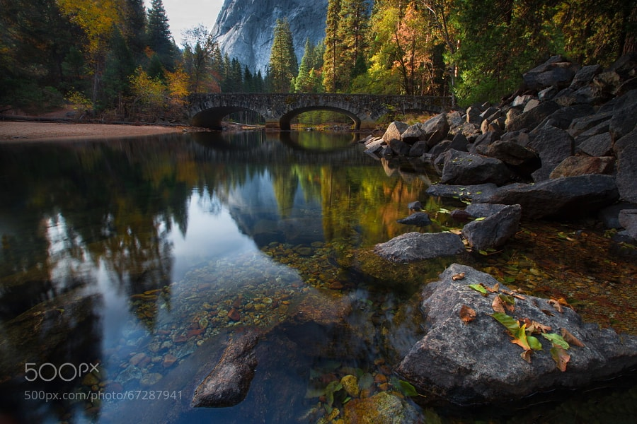 Photograph Yosemite: Bridge Across the Merced River by Larry Marshall Photography on 500px