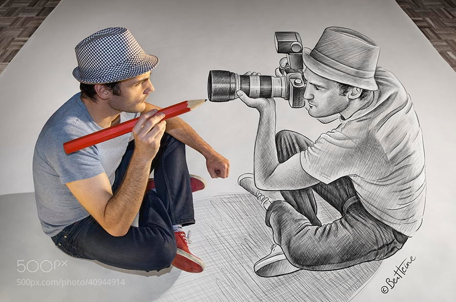 Photograph Pencil Vs Camera - 73 by Ben Heine on 500px