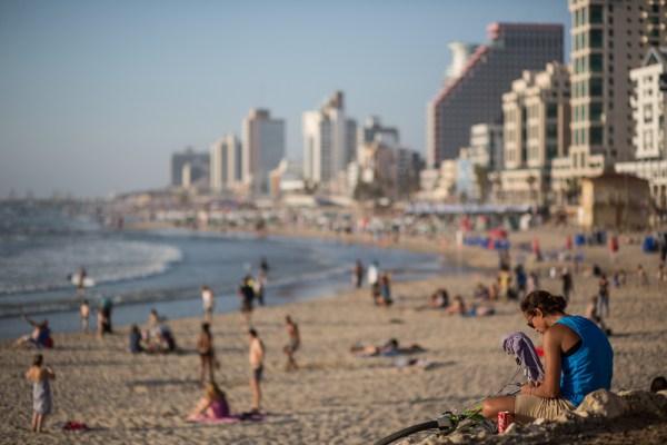 A Tel Aviv beach...