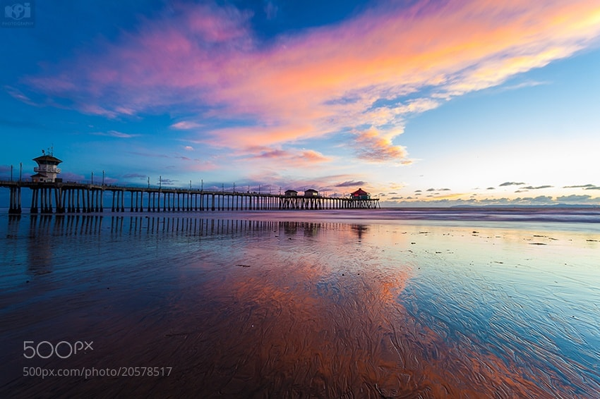 Photograph Huntington Beach Pier at Sunset by Nhut Pham on 500px