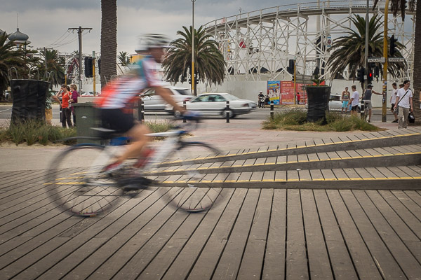 Img 1 Cycling on the boardwalk Melbourne 600px